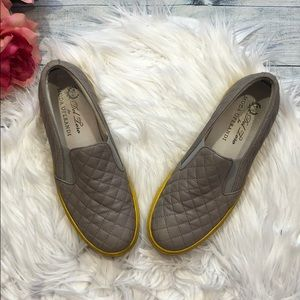 Del Toro Quilted Leather Yellow Sole Slip Ons